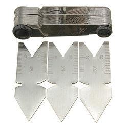 DANIU 4Pcs Screw Thread Pitch Cutting Gauge Tool Set Centre Gage 55&60?° Inch&Metric 1