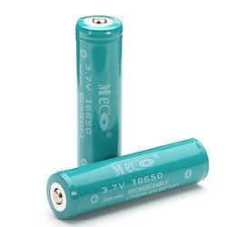 2PCS MECO 3.7v 4000mAh Protected Rechargeable 18650 Li-ion Battery 1