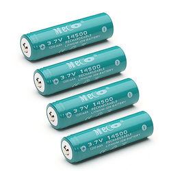 4pcs MECO 3.7V 1200mAh Rechargeable 14500 Li-ion Battery 1