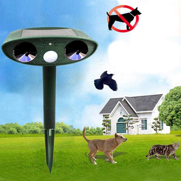 GreatHouse Ultrasonic Solar Power Animal Dispeller Outdoor Garden Animal Scarer Cat Dog Repeller 1